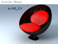 free circle chair 3d model