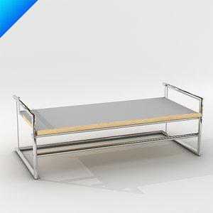 3d model menton table design classicon