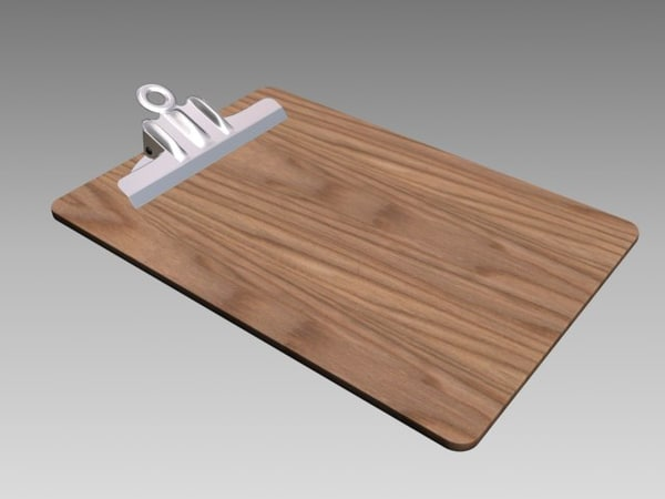 wood clipboard 3ds