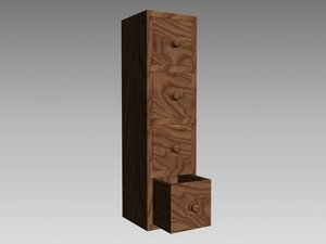 3d box drawer storage wood