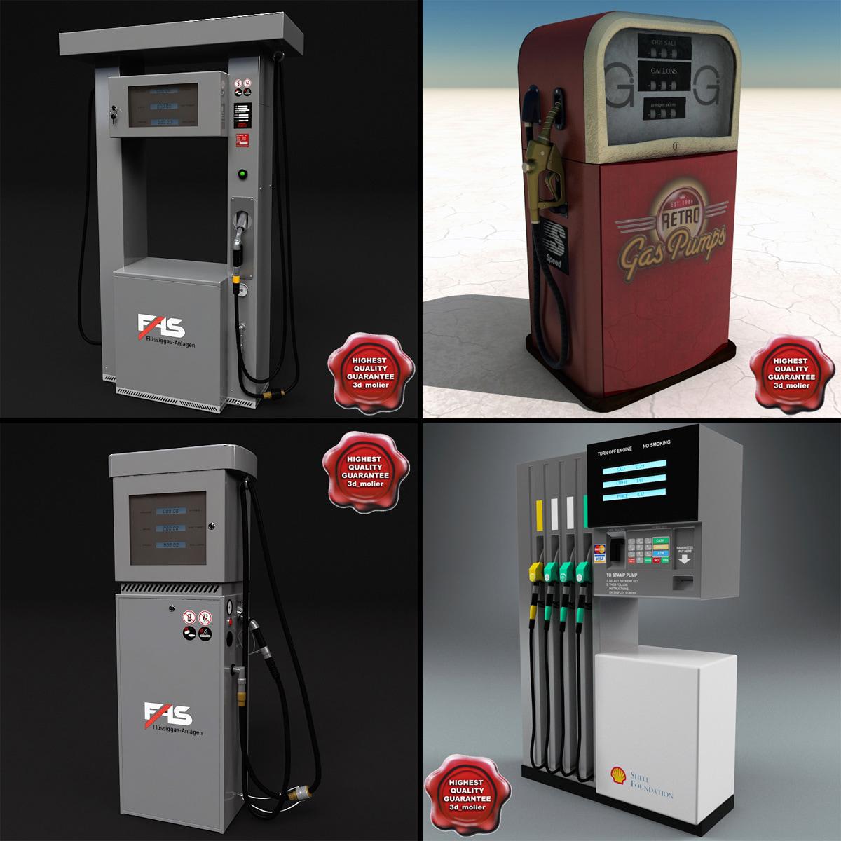 3ds max gas pumps