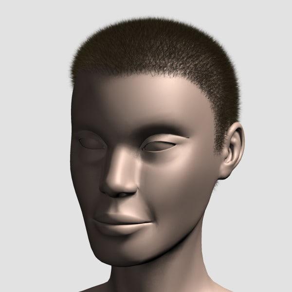 max hair character mesh