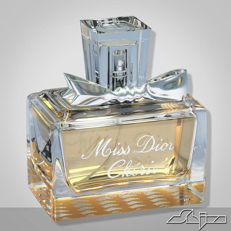 miss dior cherie 3d max