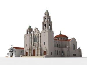 3d model mission san francisco basilica