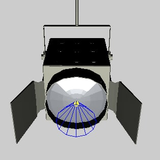 3d model spotlight spot light
