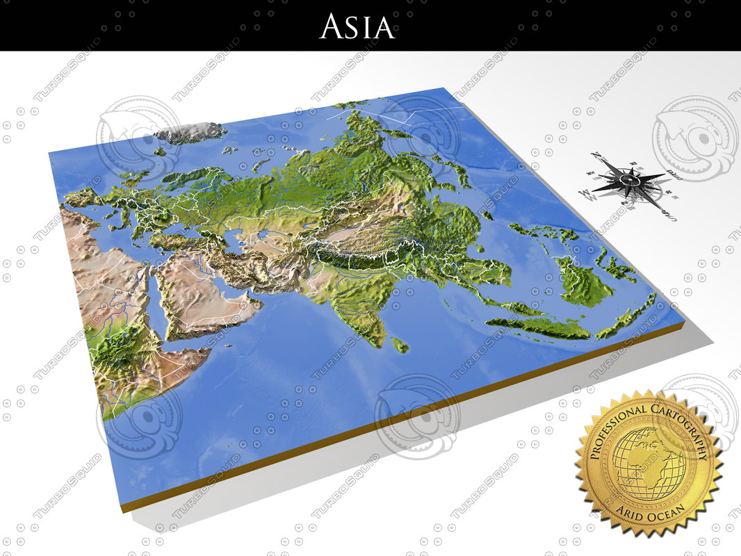 Map Of Asia 3d.Asia High Resolution 3d Relief Maps