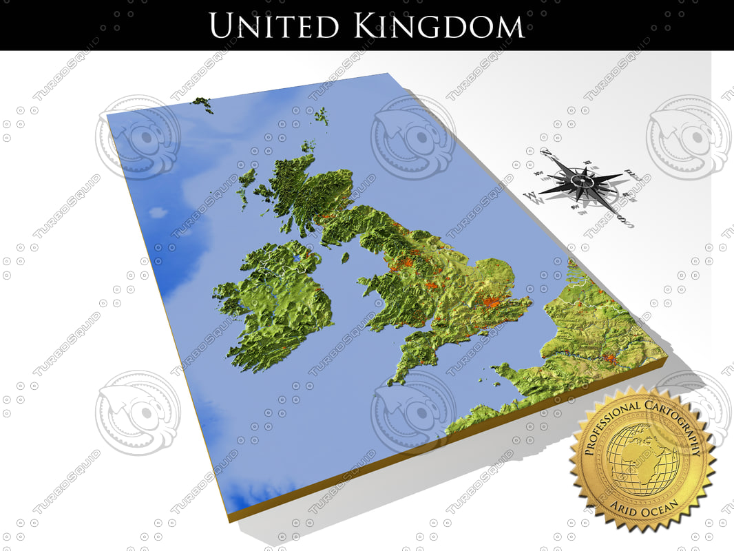 3d Relief Map Of Uk.United Kingdom High Resolution 3d Relief Maps
