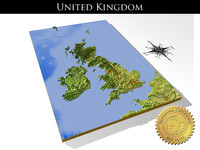 relief united kingdom 3d model