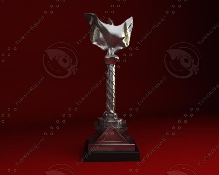 3d award trophy model