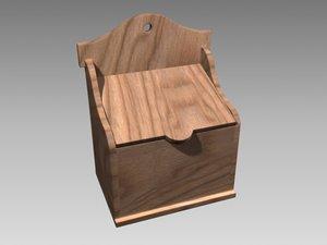recipe box 3d model