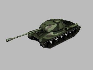 iosif stalin 2 heavy tank 3d 3ds