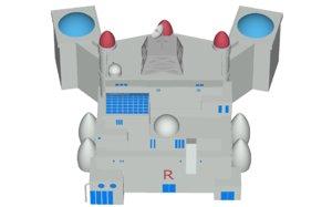 free version rocket s castle 3d model