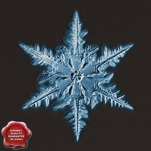 3d snowflake v5 model