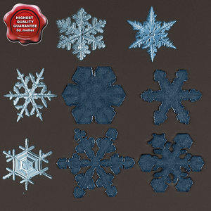 snowflakes v3 3d max