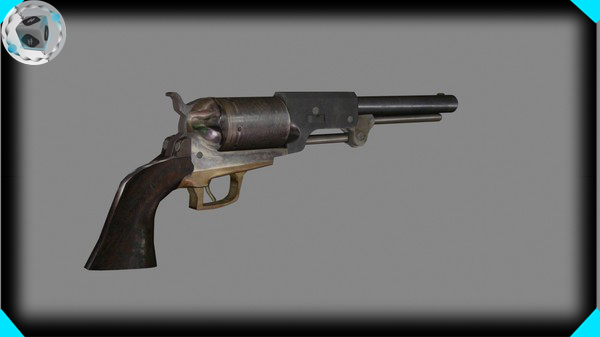 3d model movie gun