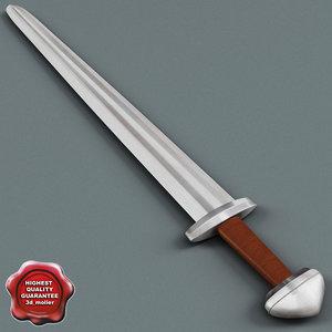 3d model of viking sword v3