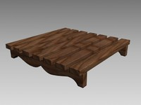 decorative wooden wood 3d model