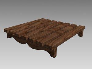 decorative wooden wood 3d model