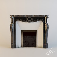 chesneys pompadour fireplace 3d model