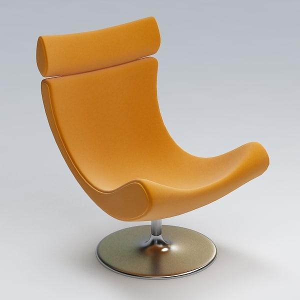 3dsmax armchair swivel chair