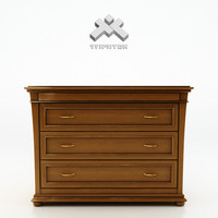 photorealistic chest drawers - 3d model