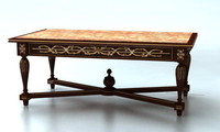 classic table carved 3d model