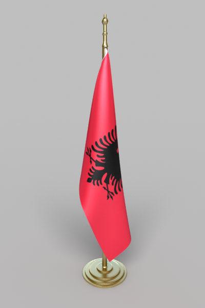 3d flag albania model