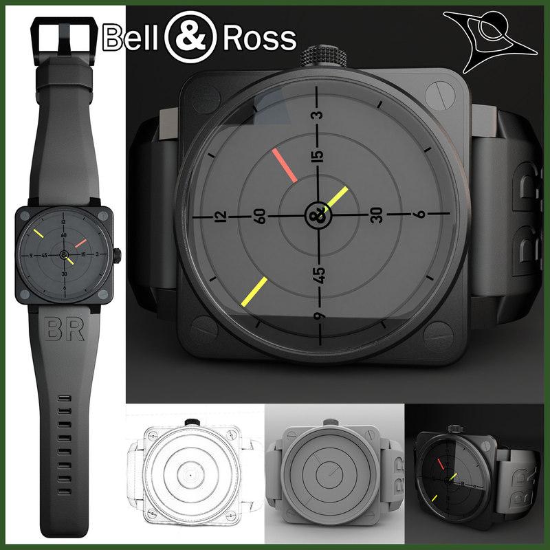 bell ross 01-92 radar 3d model
