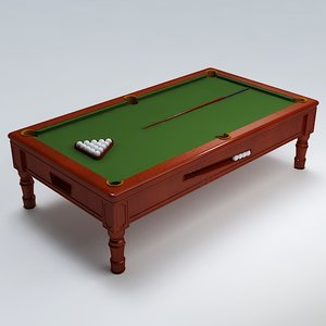 3ds max pool table