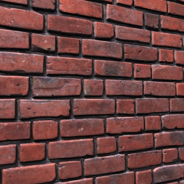 3d Model Of Brick Wall Old 02