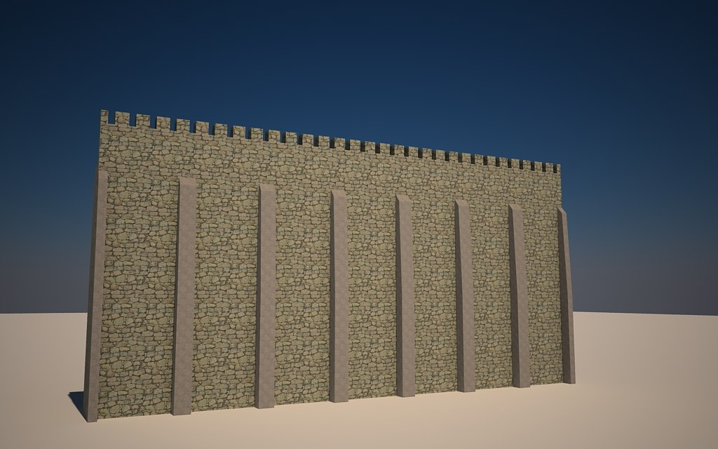 seamless castle walls 3d max
