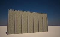 seamless castle walls 3d max