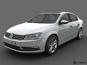 volkswagen passat sedan 2011 3d model