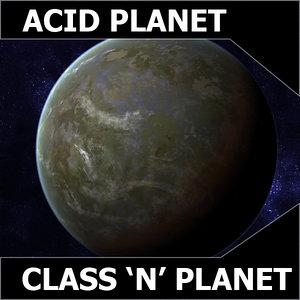 acidic planet earth class 3d model