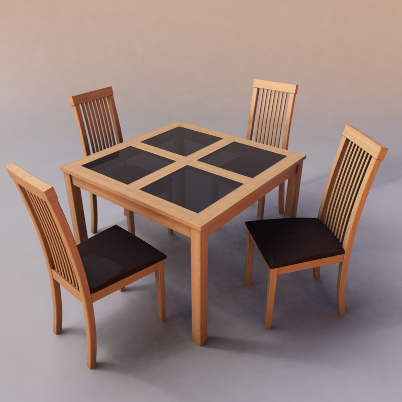 3ds max dining table