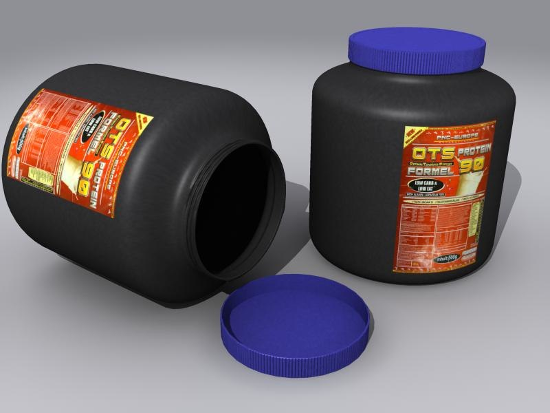 3d model container protein