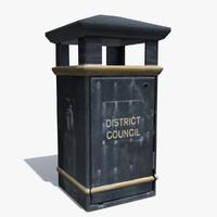 3d realistic bin