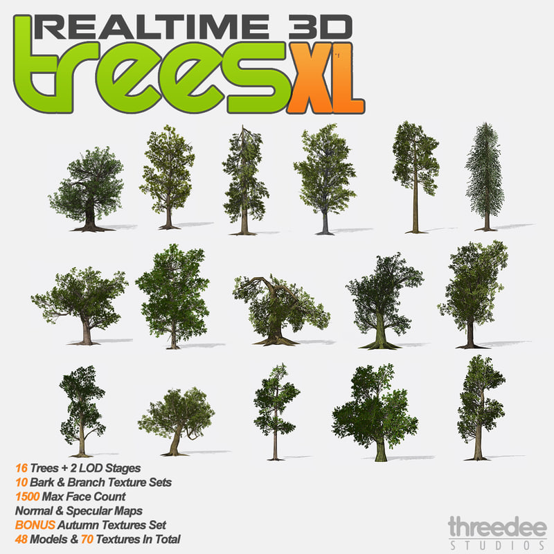 3ds max realtime trees xl -
