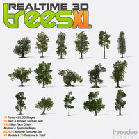 Realtime 3D Trees XL - 16 Pack
