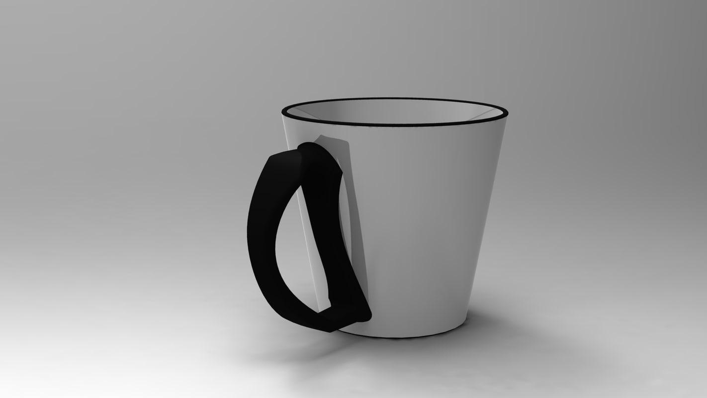 cup mug 3d max