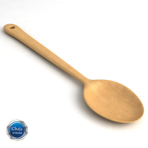 3d wooden spoon model