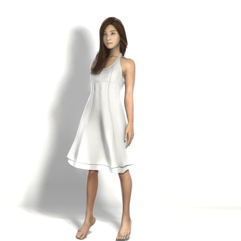3d dress asian