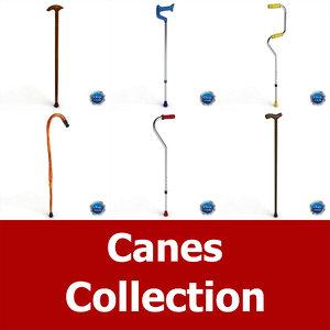 3ds modelled cane