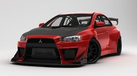 Rigged Mitsubishi Lancer Evolution EVO X