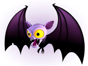 maya cartoon bat