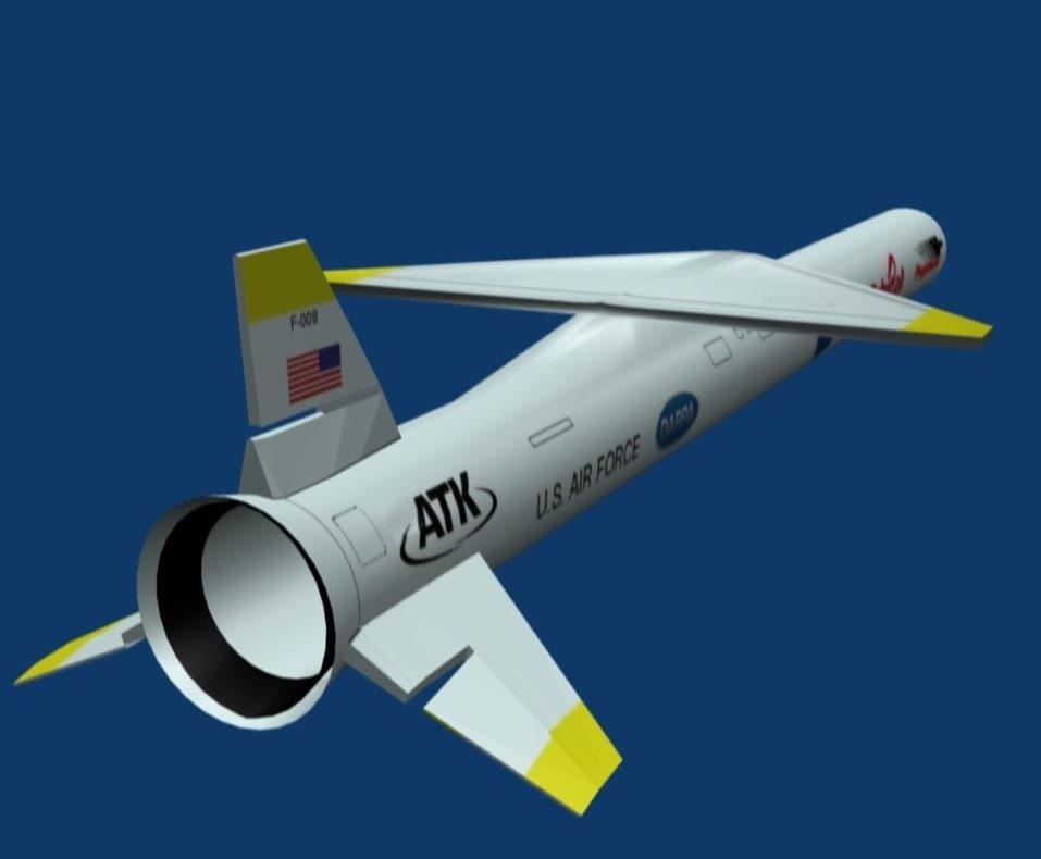 pegasus launch rocket 3d model