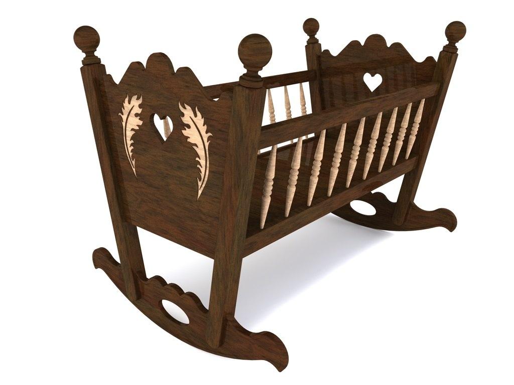 rocking baby cradle 3ds