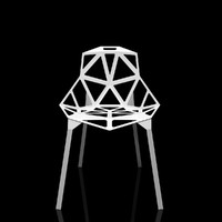 3dsmax chair - stacking