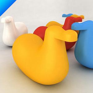 3d model oiva magis dodo rocking
