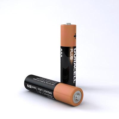 3d aaa duracell battery